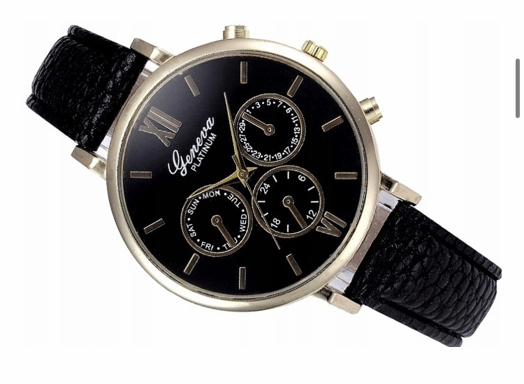 Damski zegarek skórzany Geneva