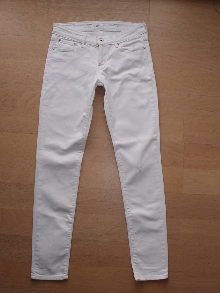 Spodnie białe jeans LEVI'S rozm. W26L32 rurki
