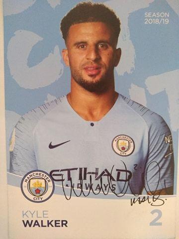 Kyle walker Manchester City Oryginalny autograf