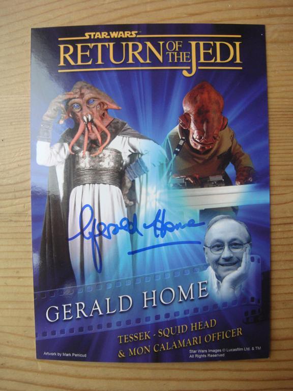 Star Wars: zdjęcie z autografem Geralda Home'a