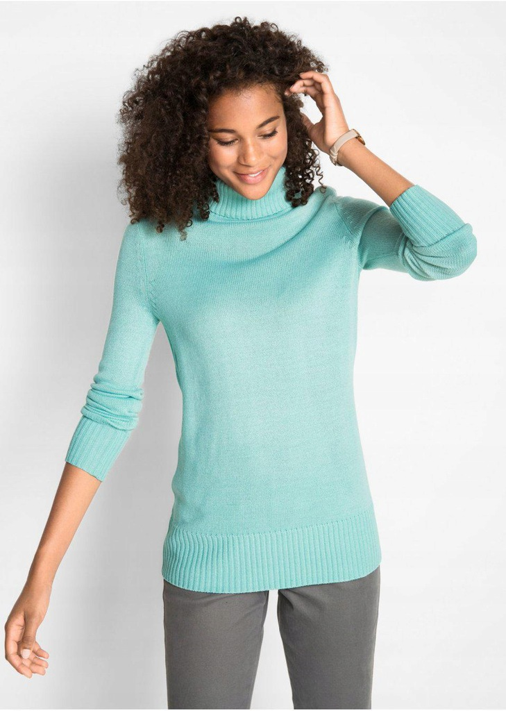 NF1J06 PASTELOWY SWETER PULLOVER GOLF__40
