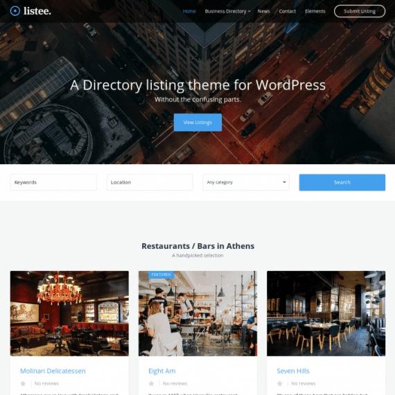 Szablon Listee Directory Listing Theme