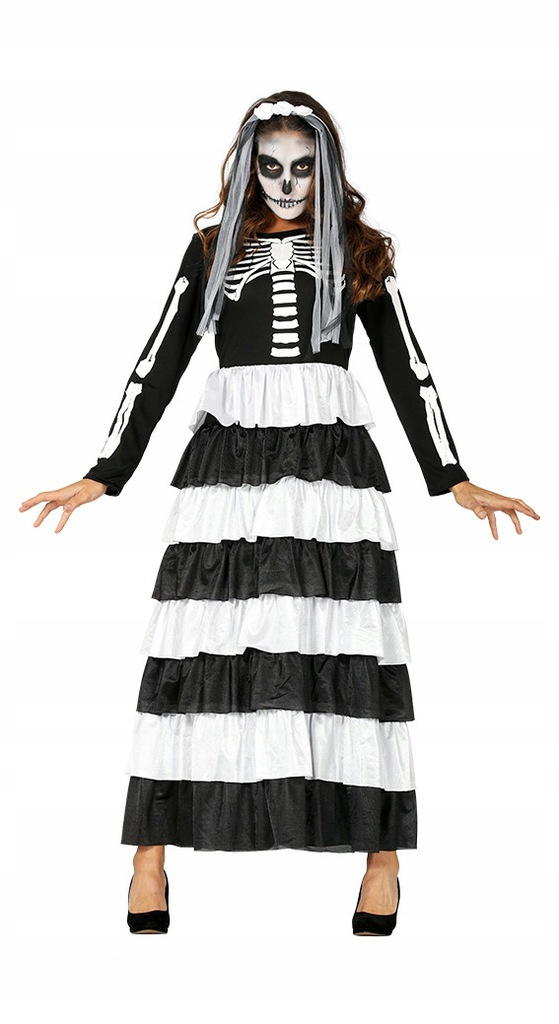 Strój Dziewczyna Kościotrupa Halloween [919/88329]