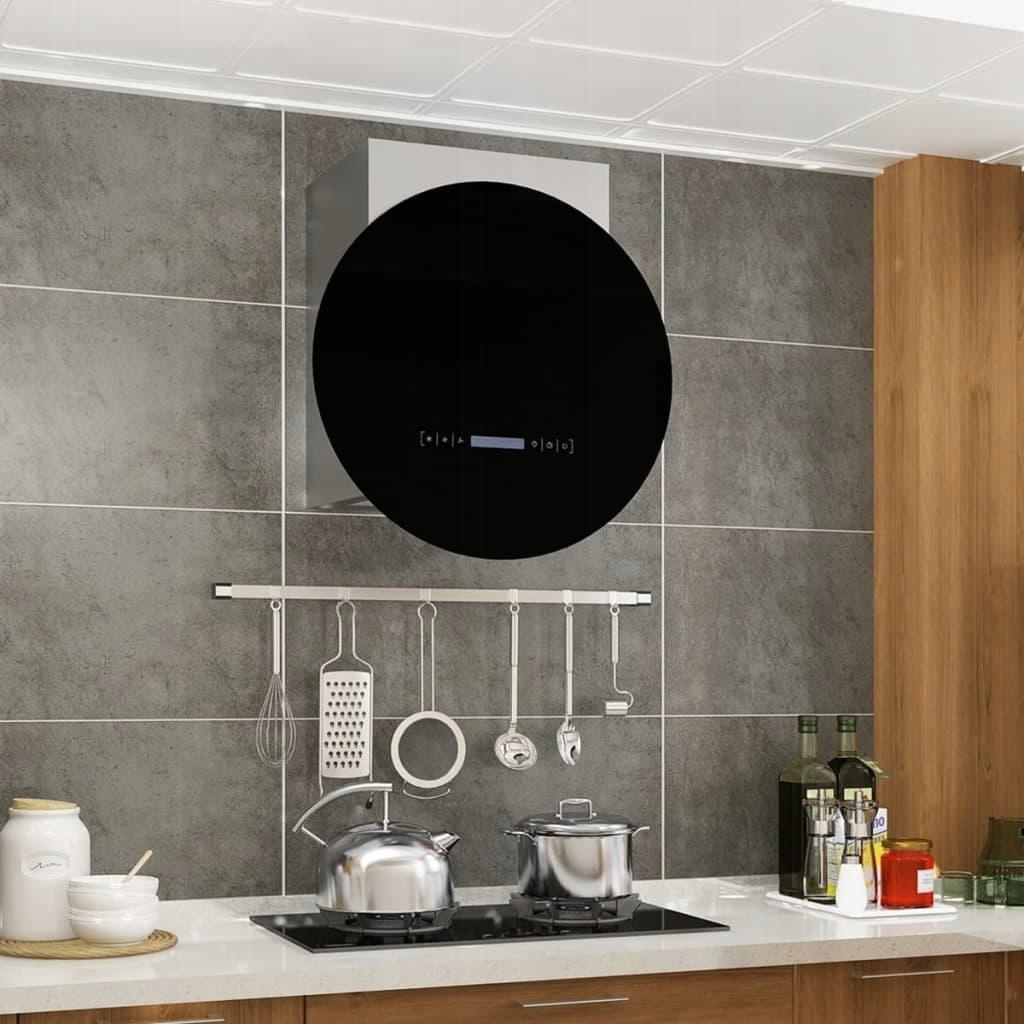 Okap kuchenny z dotykowym wyświetlaczem LCD i LED,