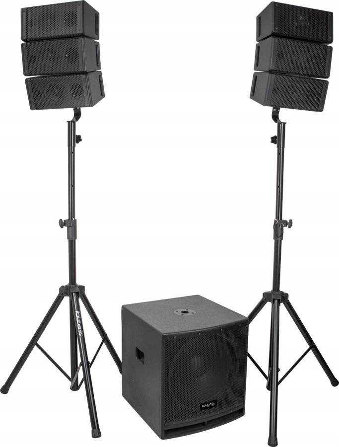 ZESTAW głośniki + subwoofer 15'' 800W Ibiza USB BT