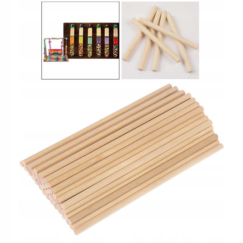 Okrągłe drewniane pręty kołkowe - 15cm