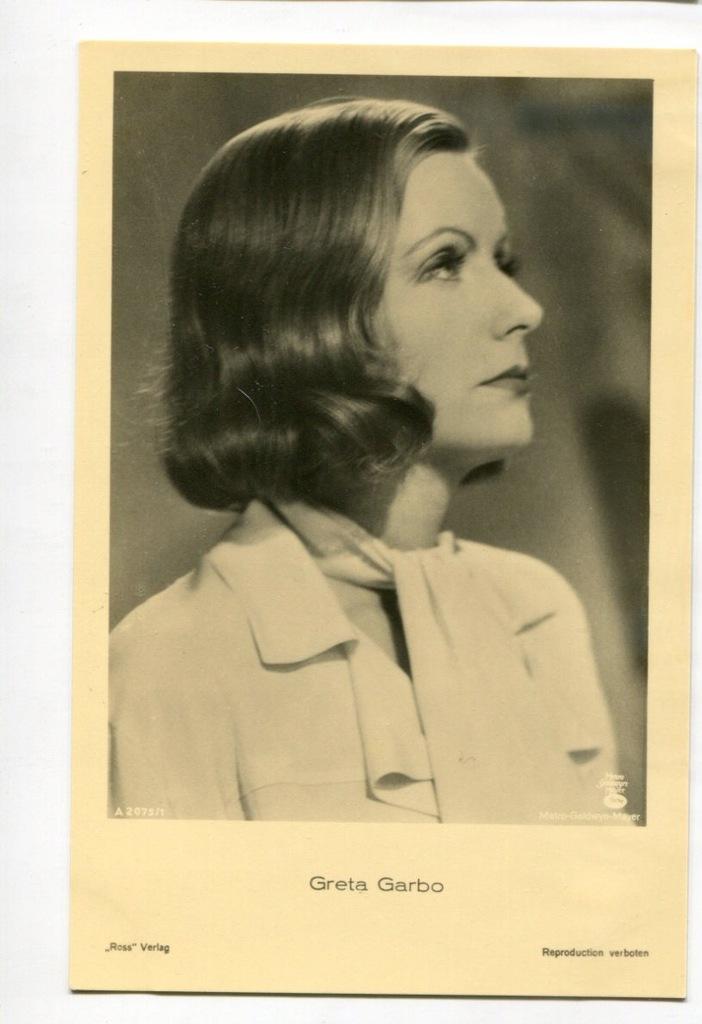 Greta Garbo Kino Film Aktorka Foto Pocztówka 43