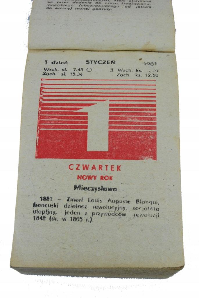 39 urodziny prezent kartka kalendarz zdzierak 1981