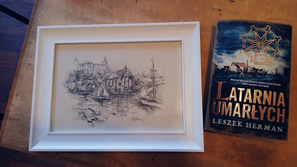 Stary Szczecin na autorskim rysunku Leszka Hermana