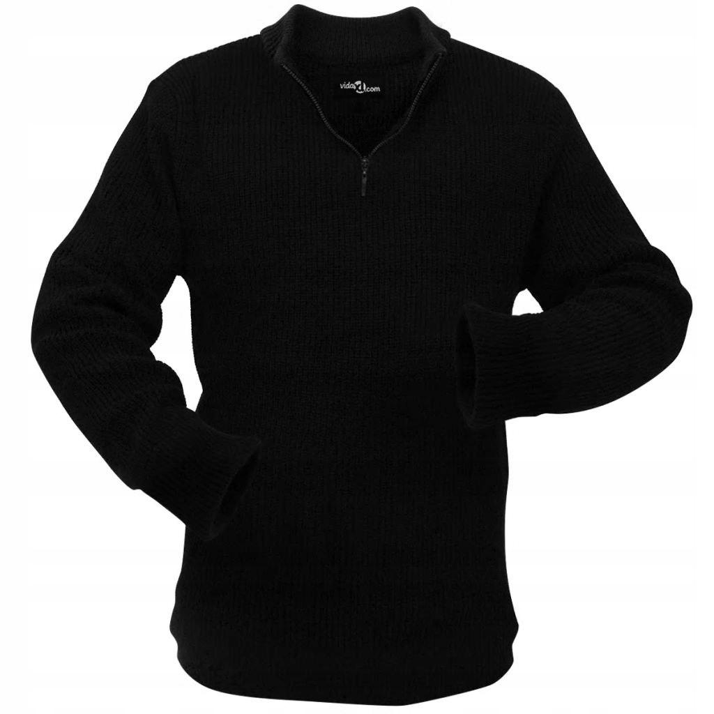 VidaXL Sweter męski do pracy, czarny, rozmiar M