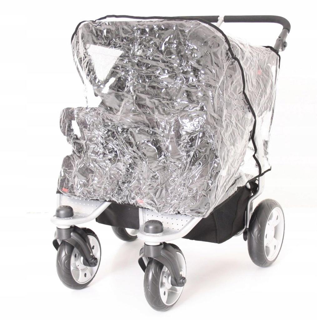 Folia przeciwdeszczowa na wózek typu Twin