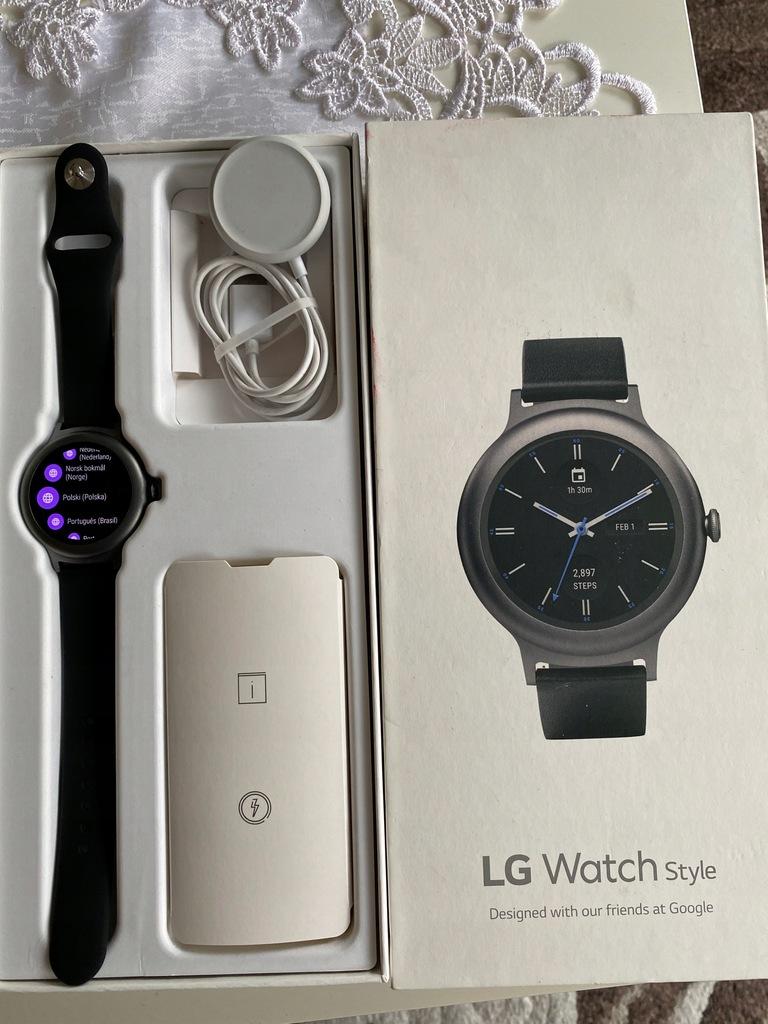Smartwatch LG Watch Style granatowy Google WearOS