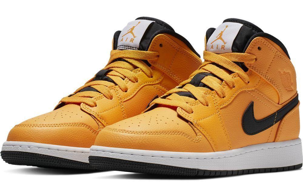 Buty koszykarskie Air Jordan 1 Mid GS żółte 38,5