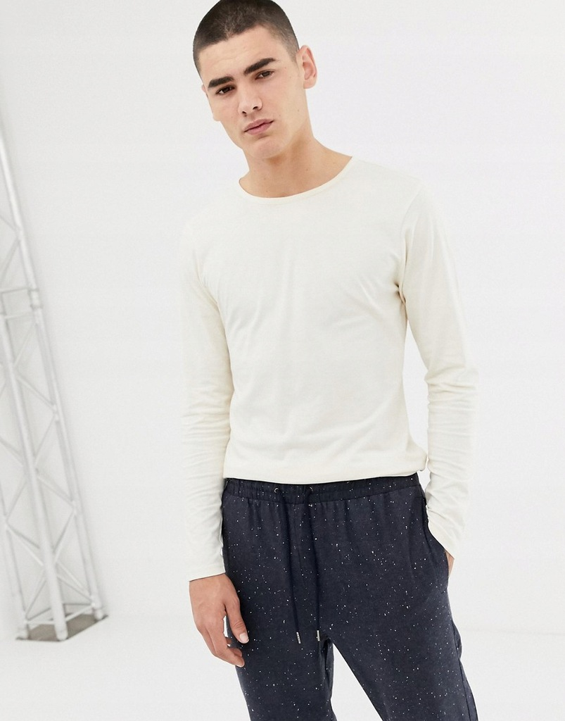 32M005 ANOTHER INFLUENCE__Z06 KREMOWY LONGSLEEVE_S