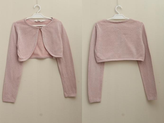 Różowe bolerko H&M, 122-128cm