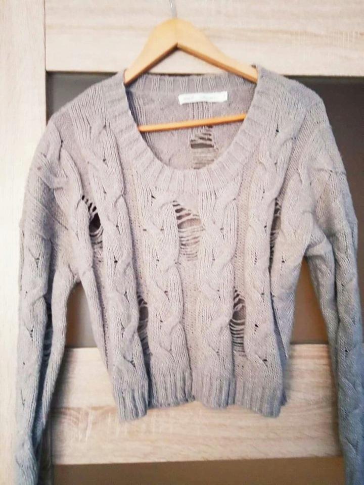 Sweterek 36 perełka NEXT paseczki