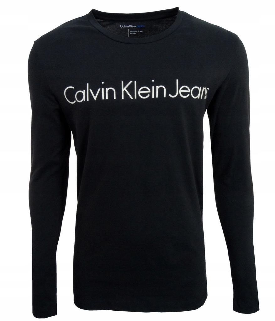 CALVIN KLEIN JEANS koszulka męska,długi rękaw S