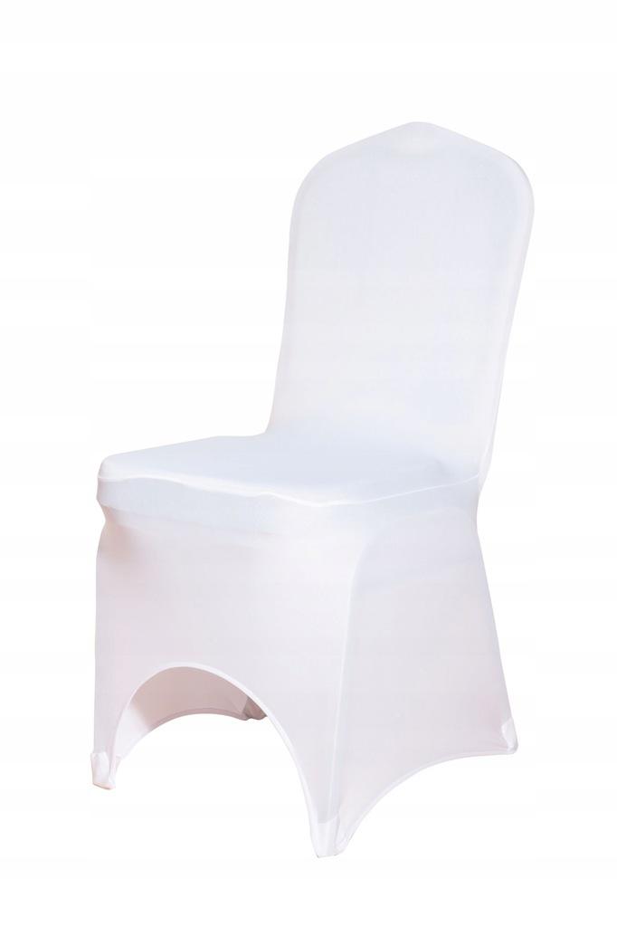 Pokrowce na krzesła elastyczne białe wesele komuni