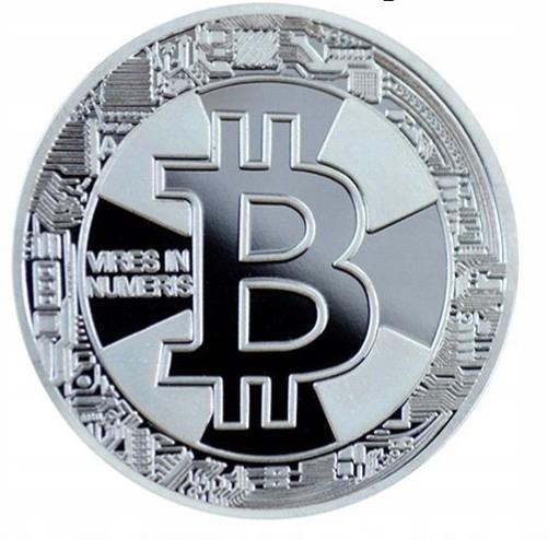 Bitcoin BTC moneta kolekcjonerska SREBRN z PL 2017