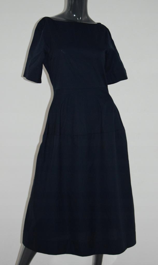 cos granatowa sukienka bawełna 34/XS