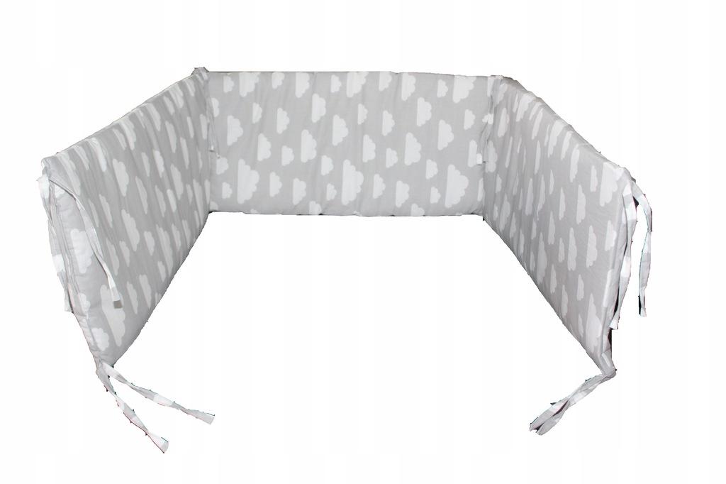 Ochraniacze do łóżeczka 150x30 100x30 wzory