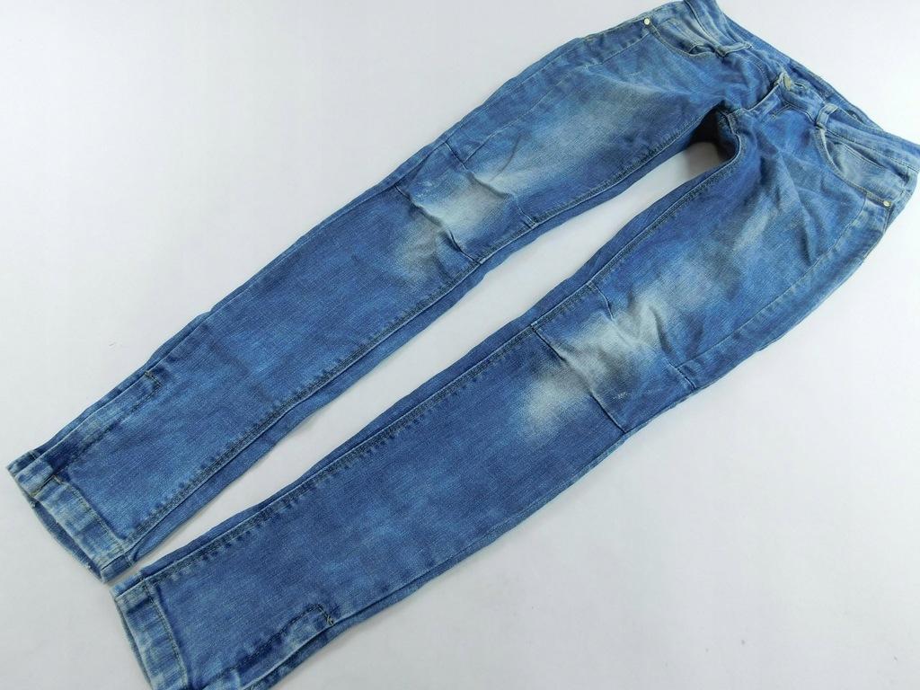 0802d117 RESERVED spodnie RURKI jeansowe W27 L32