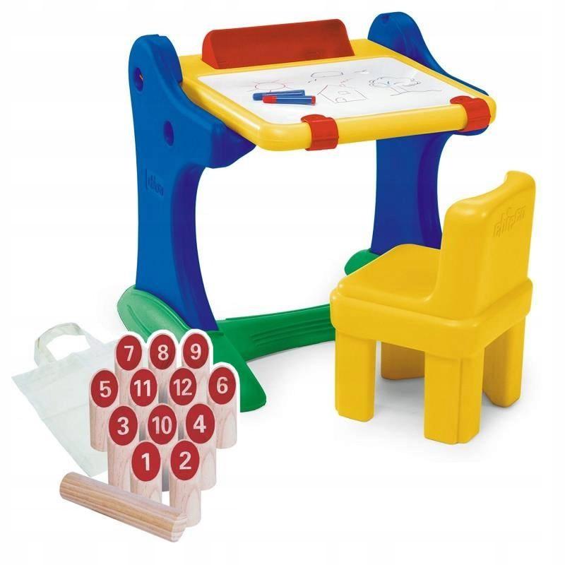 Chicco Edukacyjne biurko z tablicą i krzesełkiem +