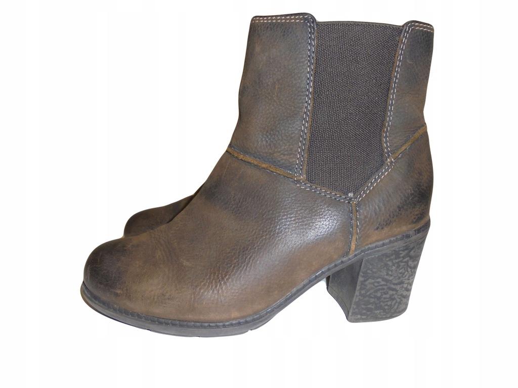 Skórzane buty firmy Clarks. Rozmiar 38,5.