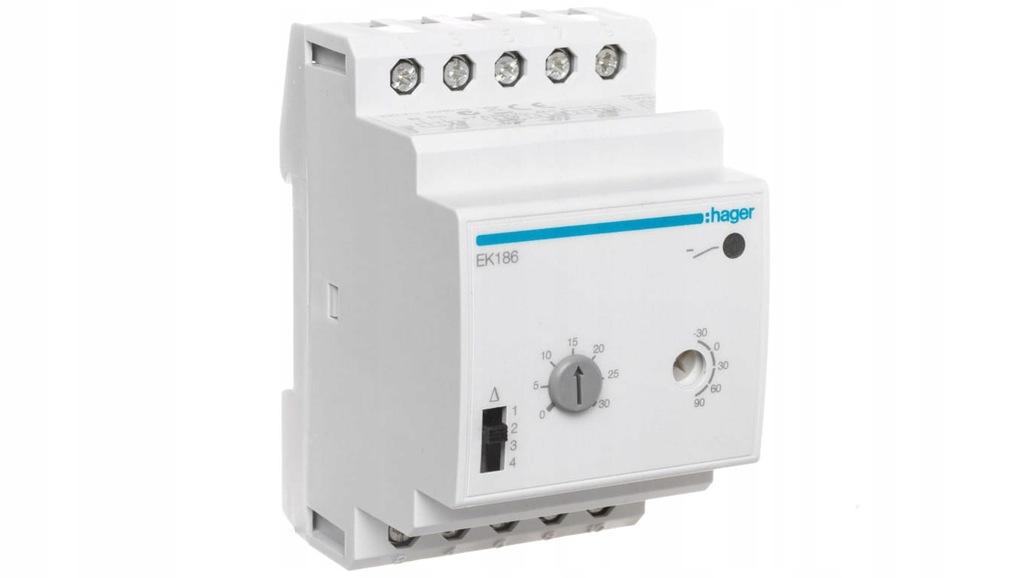 Termostat wielozakresowy modułowy 1P 2A EK186
