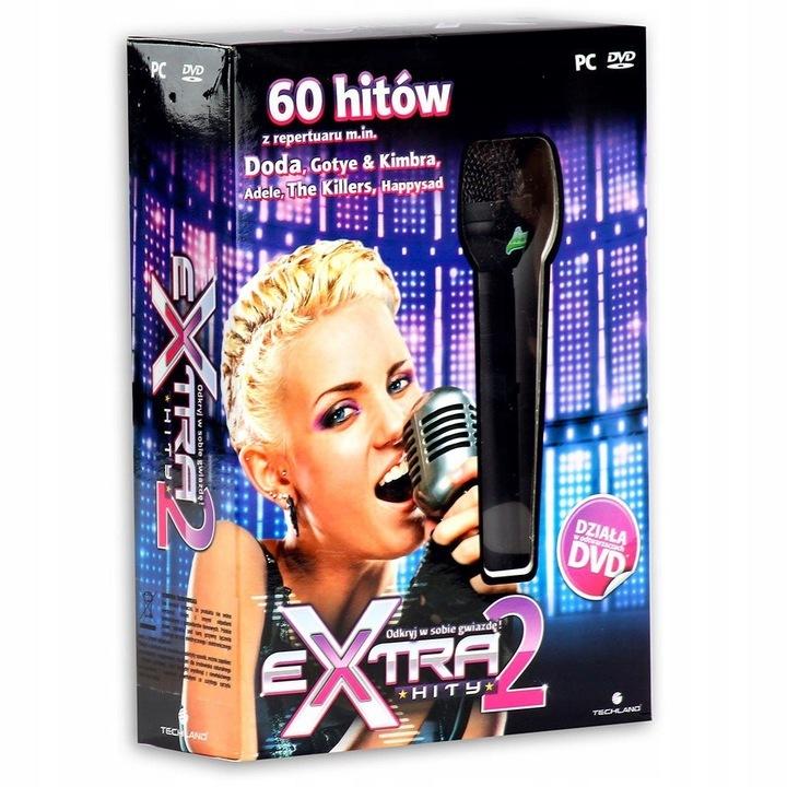 PŁYTA KARAOKE EXTRA HITY 2 + MIKROFON NA PC DVD PL