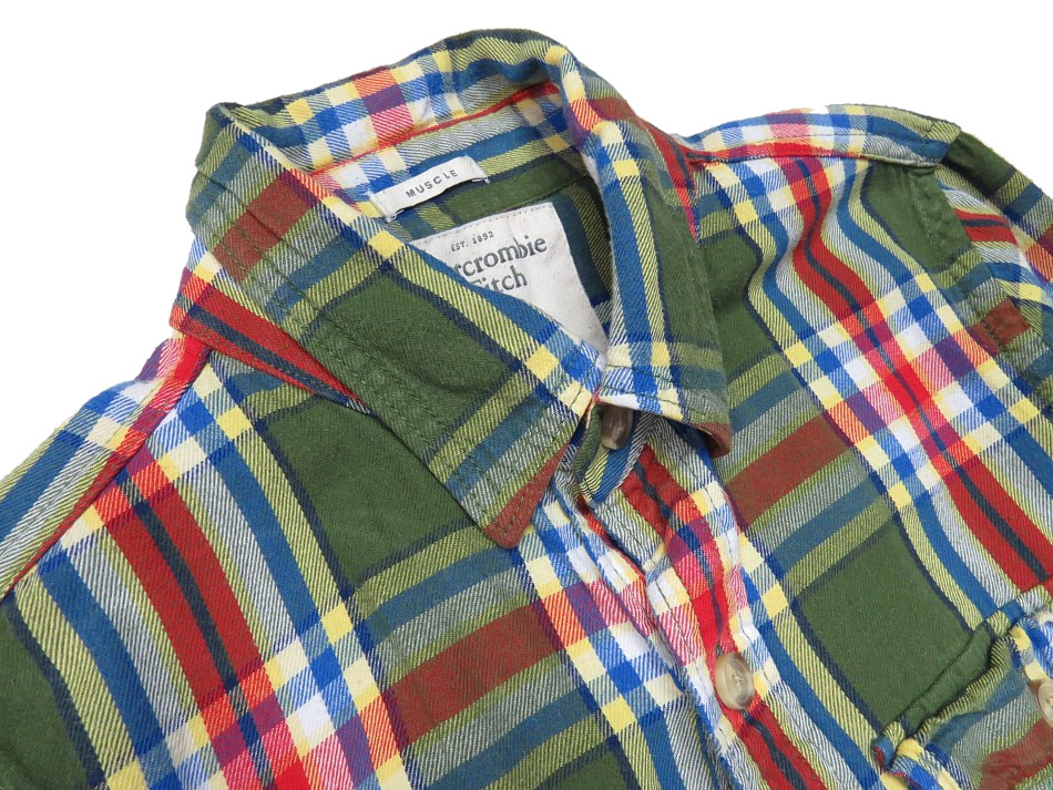 ABERCROMBIE FITCH koszula cowboy kratka S 7483622621  Gv0Nq