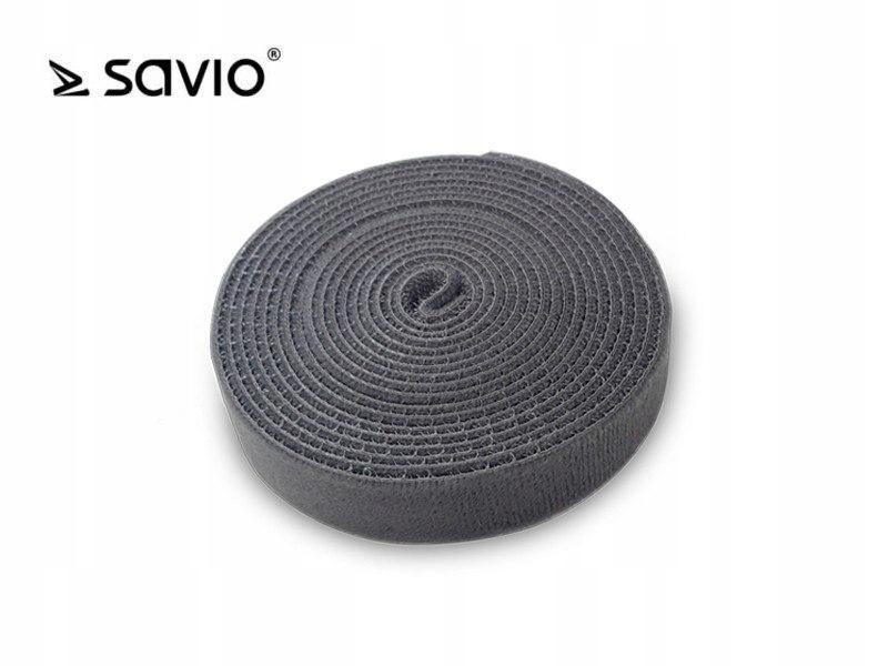 SAVORG-OC-04/G Organizer na kable, Taśma, Rzep, 3m