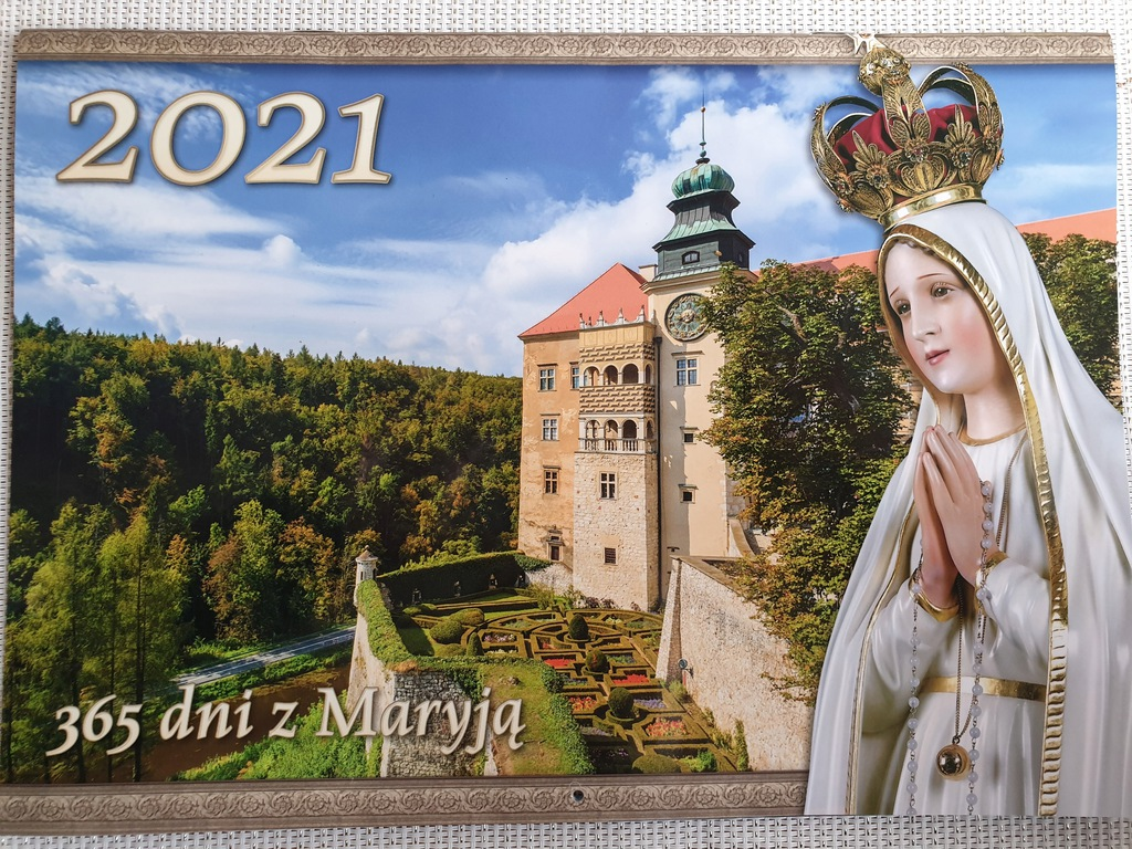 KALENDARZ 2021 365 DNI Z MARYJĄ NA ŚCIANĘ