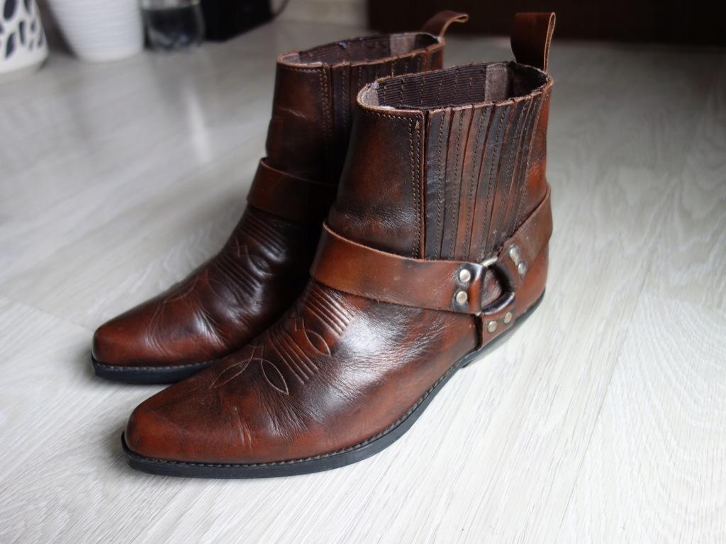 WEST WIND buty kowbojki męskie skóra natura 8 42