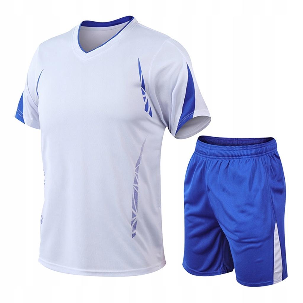 Elastyczny Sportowy Kombinezon Męski Biały L