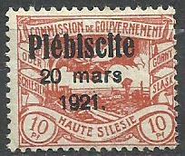 1921 PLEBISCYTY - GÓRNY ŚLĄSK Fi 30**