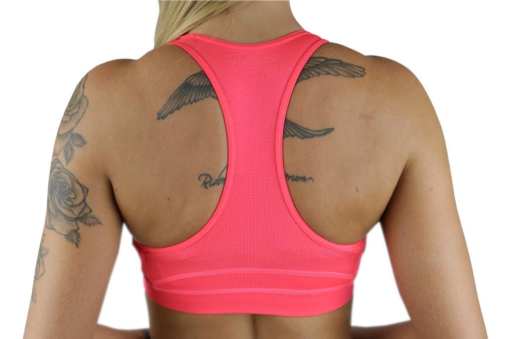 Stanik sportowy adidas TechFit Odzież damska Różowy Melanż