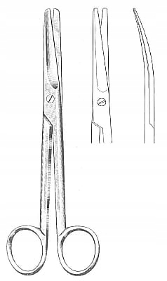 Nożyczki operacyjne typ Mayo 23 cm - zagięte
