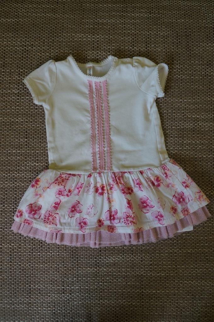 sukienka Coccodrillo, chrzciny, roczek,wesele r.74