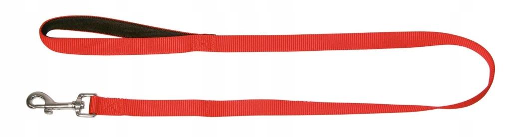 KERBL Smycz Miami z uchwytem 100cmx20 mm czerwona