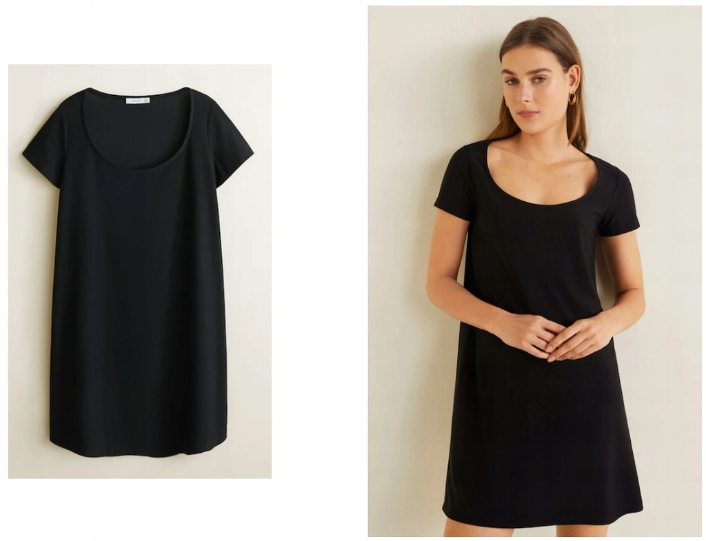 MANGO mała czarna sukienka basic NOWA TANIO