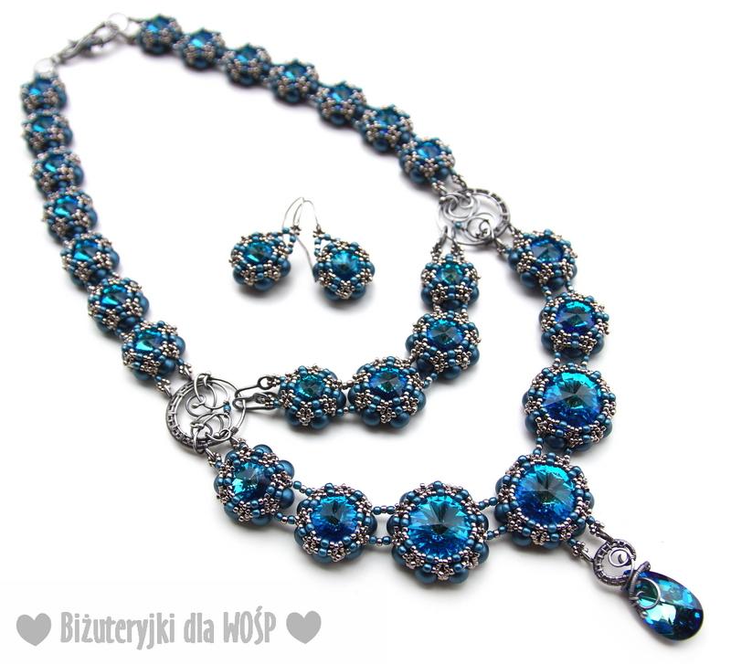 06 - BLUE DREAM - NASZYJNIK i KOLCZYKI Biżuteryjki