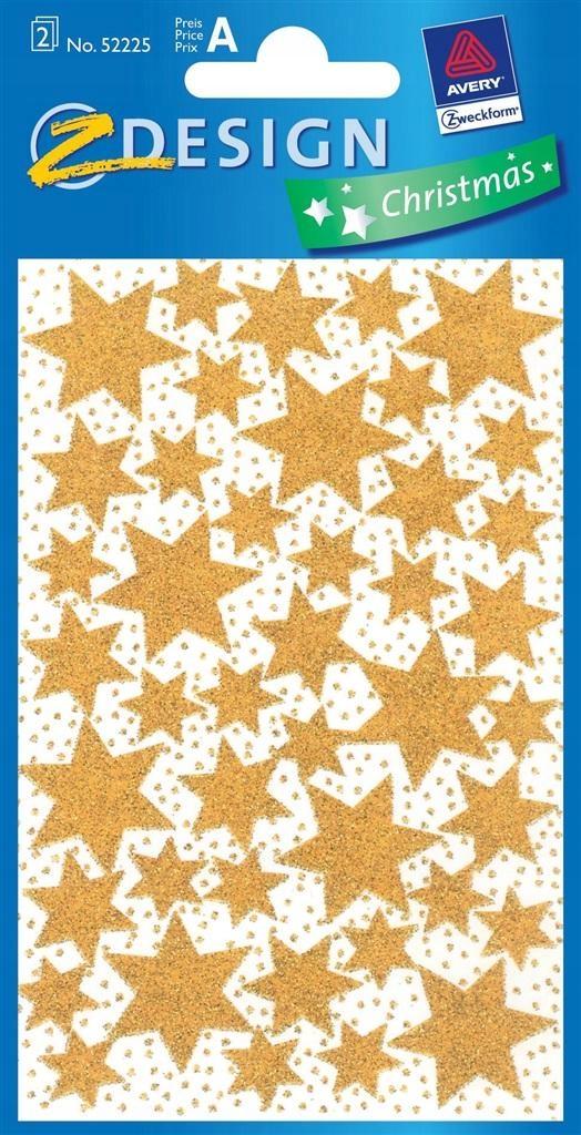 Naklejki gwiazdki błyszczące Nalepki złote gwiazdy