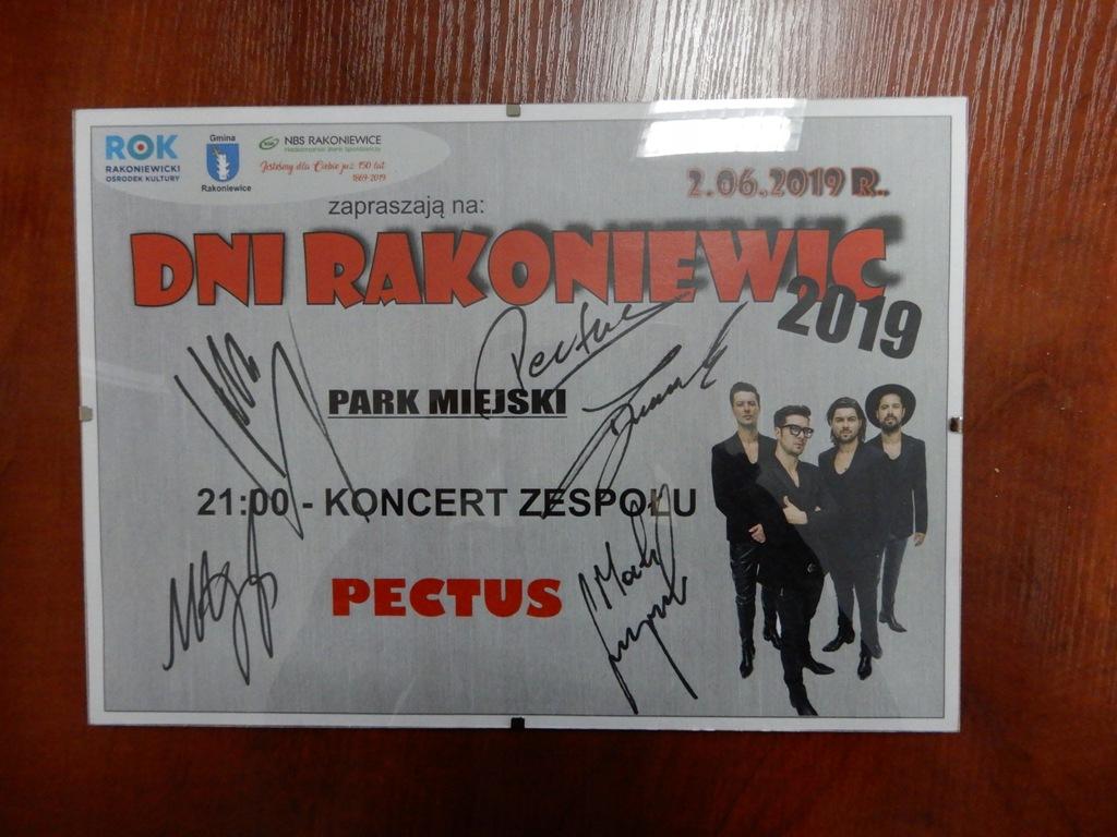 Autograf zespołu PECTUS