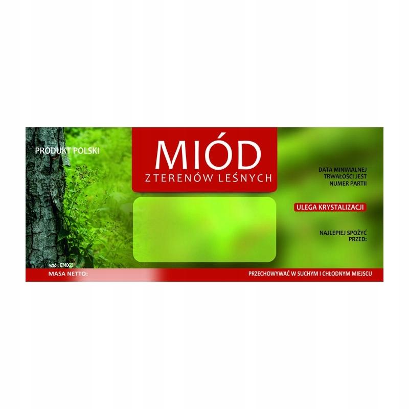 Etykieta na miód z terenów leśnych EM069 - małe