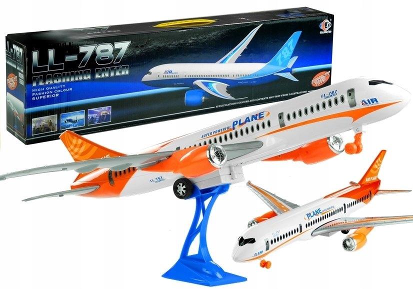 Samolot Pasażerski Biały Friction Podstawka 65 cm