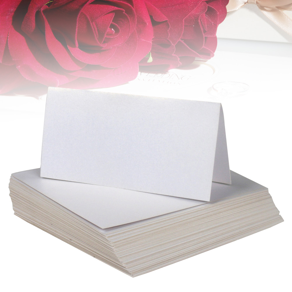 25pcs Wedding Table Name Card Simple Blank Name Ca