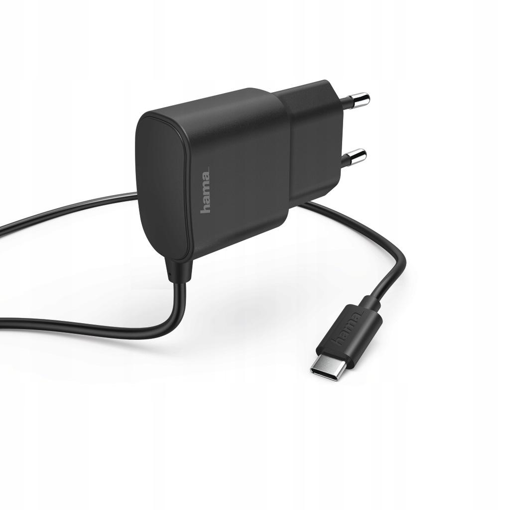Hama ładowarka sieciowa USB-C / 2,4 A / 1 m