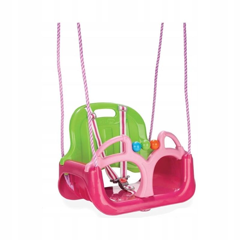 Huśtawka Swing 3w1 Typu Trix do Domu Ogródu Różowa