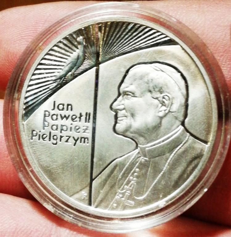 Jan Pawel Ii Papiez Pielgrzym Moneta Srebrna 10zl 7911274476 Oficjalne Archiwum Allegro